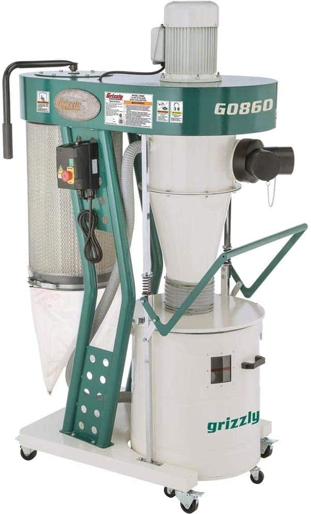 grizzly industrial g0860 portable cyclone dust collector